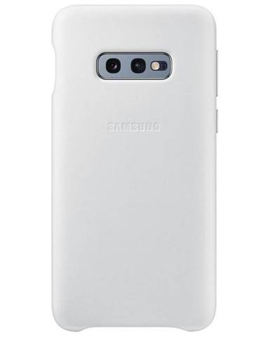 Kryt na mobil Samsung Leather Cover na Galaxy S10e biely